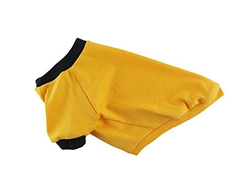 Yellow 1 x 1 Rib Knit Ringer Tee, Dog T-shirt, Dog Clothing, Dog Fashion, Dog Apparel, Made in USA, XS-3XL