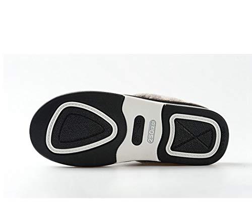 Maison Appartements Noir Pantoufles Donad Femmes Douces Hiver Chaussures De Dames En Cuir Nouveau sale Anti Hwzwxq81