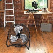 Patton High Velocity Fan, Three-Speed, Black, 8.58''W x 22.83''H