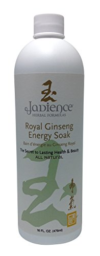 Royal Ginseng Energy Bath Soak by Jadience: All Natural Herbal Liquid Formula for Full Body or Foot Soaking | Increase Energy & Stamina | Relieve Stress, Fatigue and Muscle & (Best Energy Foot Spa)