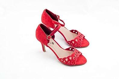 Adora Red Heel Sandal For Women