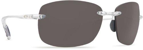 Costa Del Mar Destin Men's Polarized Sunglasses, Crystal/Gray 580P, - Cost Mar Del