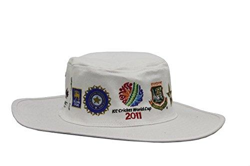 ICC CWC 2011 Panama Hat-White