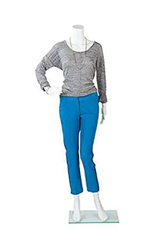 Female Headless White Plastic Mannequin - Bent Arm - Height 5'4