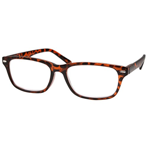 High Magnification Power Readers Slim Reading Glasses 4.00-6.00 Tortoise/4.00