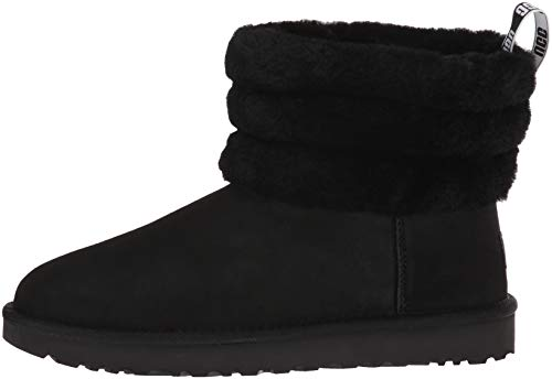 Mini W UGG Women's Black Boot Fluff US Quilted Fashion M 10 UFSxBqn6