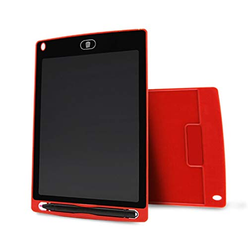 sholdnut 8.5inch Kids Mini LCD Writing Pad Tablet Drawing Memo Board with Handwriting Pen for Writing,Painting (Red)