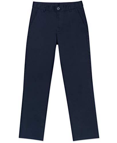 Nautica Big Boys' Uniform Flat Front Pant, Navy, X-Large/18