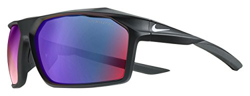 Nike EV1033-016 Traverse R Sunglasses (Frame Grey with ML Infrared Lens), Matte Black/White ()
