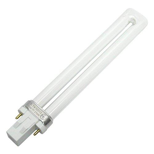 TCP Fluorescent Twin Tube PL Lamp, 13W (800 Lumens) Soft White (2700K) 2-Pin (GX23 base)