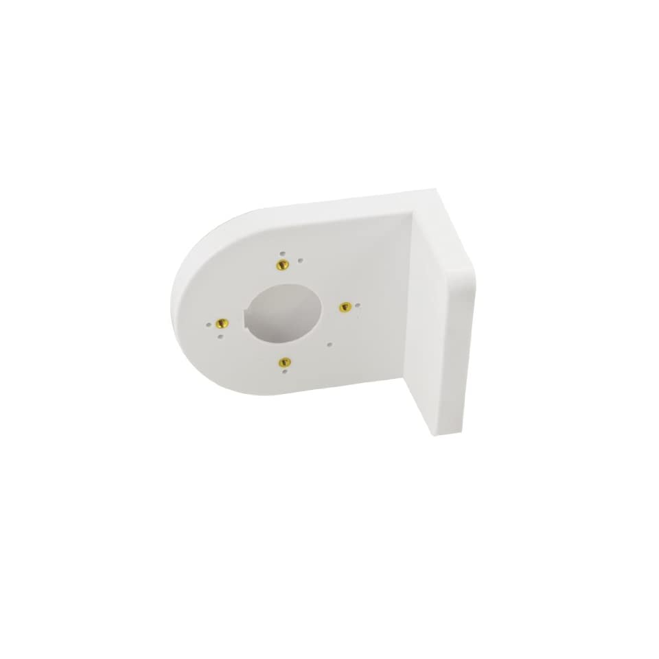 Plastic Right Angle White Bracket Wall Mount Security Shelf for Dome Camera