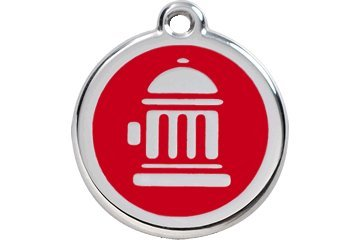Fire Hydrant Pet Tag (Red Dingo Custom Engraved Dog ID Tag - Fire Hydrant Large/Red)