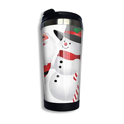 Clipart Snowman - Coffee Thermos Cup Cute Christmas Clipart Snowman Stainless Steel Travel Mug Cup Water Bottle