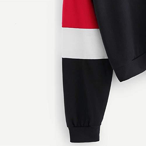 lunga rossa cerniera camicetta Aimee7 top manica felpa pullover con T top donna shirt lampo nwTO61