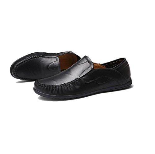 Stagione Affari Tondo Sandali Scarpe Black Morbido Nastro Sportivi Uomo in Tela A Pelle Casual Stivali Punta Colore XwqxvITn