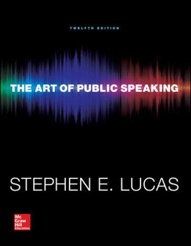 The Art of Public Speaking (Communication) Standalone Book by McGraw-Hill Education