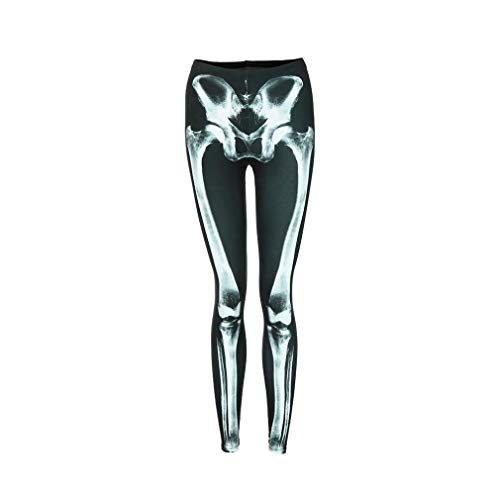 Molyveva Women Casual Halloween Print Yoga Leggings Stretch Pant Sport Trouser