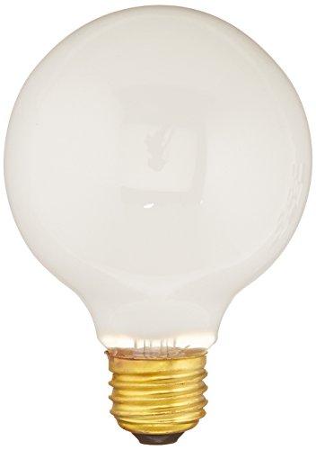 Bulbrite 40G25WH2 40W G25 Globe 120V Medium Base Light Bulb, White