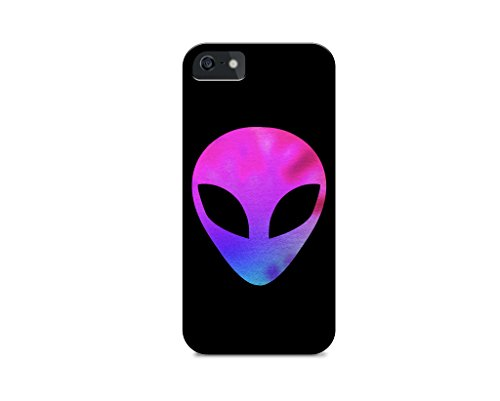 iPhone 6 Plus/iPhone 6S Plus - Hard Plastic Case - Cover ALL Sides - Tie Dye-Alien Pattern-Alien Emoji-Emoticon-Hipster-Teenager-Gift Ideas