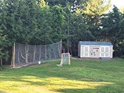 10' X 25' Fishing Net, Netting, Fish Net for Golf Backstop, Hockey, La Crosse, Barrier, Sports