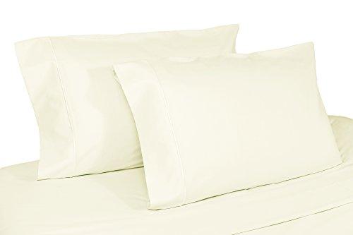 (Whisper Organics Organic Cotton Pillow Case Set GOTS Certified, 300 Thread Count, Sateen (Queen, Ivory))