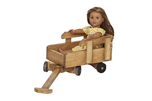 Eco-Friendly Wooden Toy Wagon (Unfinished)