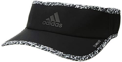 adidas Women's Superlite Visor, black/white/dye pixel, One Size -