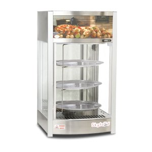 SKYFOOD PD3TS PIZZA DISPLAY CASE - TRIPLE TRAY 14'' - STEAM LINE