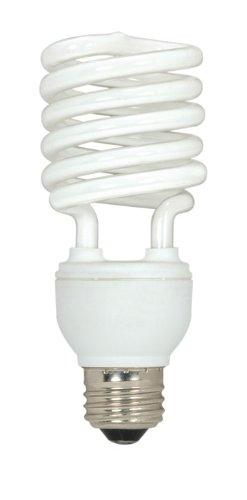 (Pack of 12) Satco S7231, 26-Watt Medium Base T2 Mini Spiral, 2700K, 120V, Equivalent to 100-Watt Incandescent Lamp for Enclosed Fixtures, Compact Fluorescent Bulb by Satco