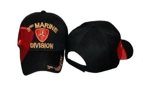Embroidered USMC Marines Marine 3rd Division Baseball Hat Cap (Marine Hat Division)