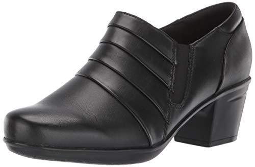 Clarks Women's Emslie Guide Pump Black Leather 80 M US