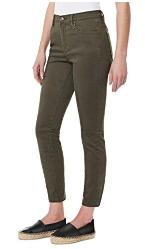 Buffalo David Bitton Womens' Mid-rise Stretch Skinny Ankle Grazer Jean (14/34, Army Green)