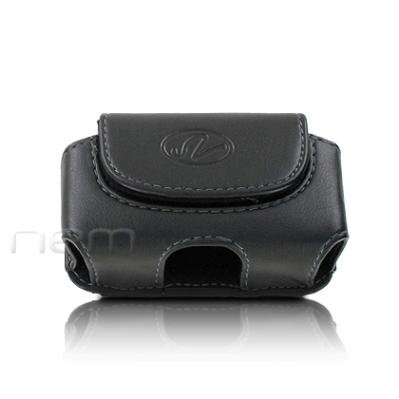 Black Color Horizontal Leather Cover Belt Clip Side Case Pouch For HP Veer 4G