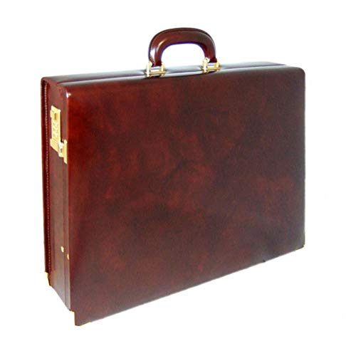 Pratesi Milo Italian Leather Attache Case Briefcase. (chianti)