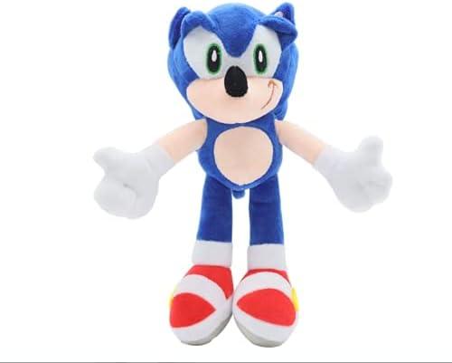 "Hedgehog Plush Figure Doll Plush 11"" Sonic The Hedgehog Doll Soft Stuffed Plush Pillow Toy (Blue)"