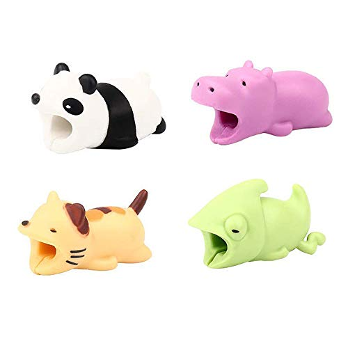 Price comparison product image Shaoshao 4pcs Cute Cable Bite For Iphone Cable cord Animal Phone Accessory Protects