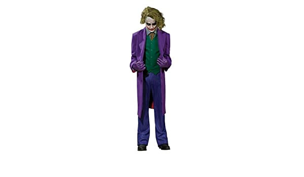 Deluxe Batman - The Dark Knight - Joker Costume - UK ADULT ...