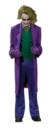 [Batman The Dark Knight Grand Heritage Deluxe Costume And Mask, The Joker, Purple, Large] (The Joker Masquerade Costume)