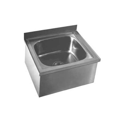 Mop Sink, Stainless Steel, Stainless Steel, Bowl Size 16