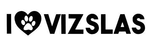 Custom I Love Vizslas Vinyl Decal - Dog Breed Bumper Sticker, for Laptops or Car Windows - Paw Print ()