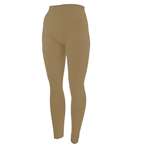 - 31 2B0LJNhkoL - New Mix by New Kathy, Full-Length Plus Size Leggings, Khaki