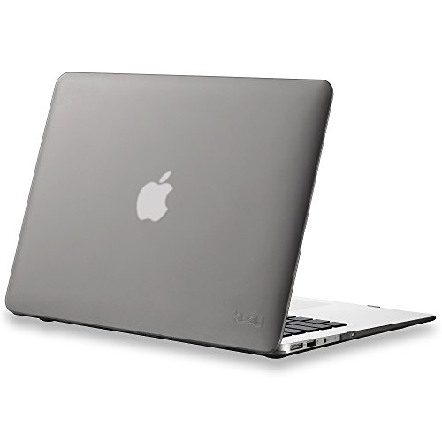 Kuzy - AIR 13-inch GRAY Rubberized Hard Case for MacBook Air 13.3