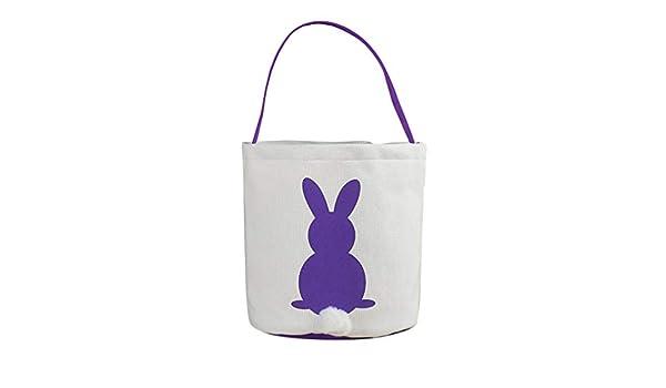 Cestas de huevos de conejo de Pascua para niños, bolsa de regalo ...