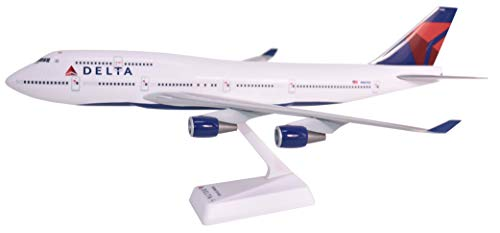 Flight Model Kit - Delta (07-Cur) Boeing 747-400 Airplane Miniature Model Snap Fit 1:200 Part#ABO-74740H-019