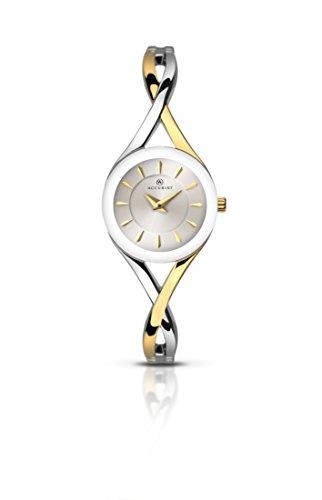 Accurist Womens Analogue Classic Quartz Watch with Brass Strap 8136.01