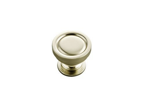 Hickory Hardware P3153-FN 1-1/4-Inch Guild Knob, Flat Nickel