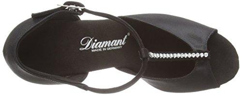 amp; Schwarz Diamant Zapatos 025 Mujer 087 Standard Negro Latein de Diamant para Damen Baile 091 Tanzschuhe Latino nxr0TnP