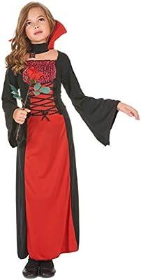 Disfraz de vampiresa para niña, ideal para Halloween: Amazon.es ...