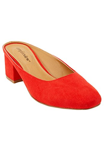 Comfortview Womens Wide Judy Mules New Hot Red
