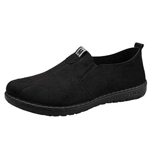 ANJUNIE Womens Ladies Slip-Ons Casual Breathable Shoe Lightweight Loafers Shoes Sneakers for Walking